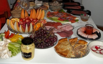 Monasoleil Tarologue, Table de Noel chez ma soeur Sonia