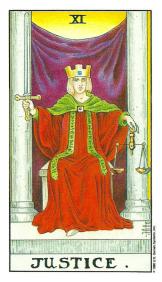 La Justice - Carte de Tarot Signification Arcane Majeur