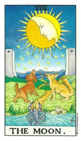 La Lune - Carte de Tarot Signification Arcane Majeur