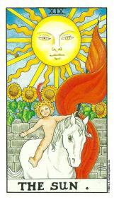 Le Soleil - Carte de Tarot Signification Arcane Majeur