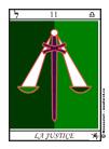 Justice, Tarot, Arcane Majeur