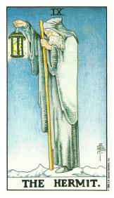 L'Ermite - Carte de Tarot Signification Arcane Majeur