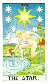 L'Étoile - Carte de Tarot Signification Arcane Majeur