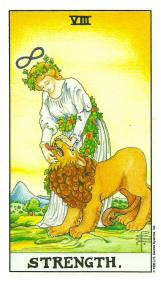 La Force - Carte de Tarot Signification Arcane Majeur