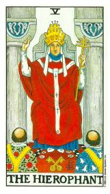 Le Pape ou l'Hiérophante - Carte de Tarot Signification Arcane Majeur