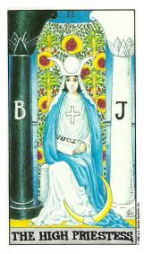 Le Papesse - Carte de Tarot Signification Arcane Majeur