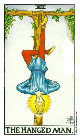 Le Pendu - Carte de Tarot Signification Arcane Majeur