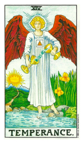 La Tempérance - Carte de Tarot Signification Arcane Majeur