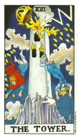 La Tour - Carte de Tarot Signification Arcane Majeur